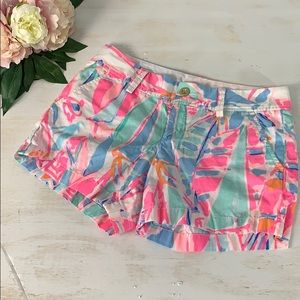 Lilly Pulitzer pink and blue Callahan short size 4